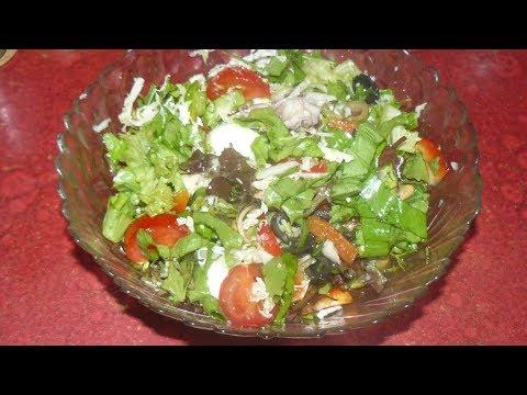 Салат с морским коктейлем. Легкий, вкусный и красивый. Рецепт без майонеза.