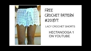 CROCHET LACE SHORTS, ADULT MEDIUM, FREE CROCHET PATTERN, Beach Shorts