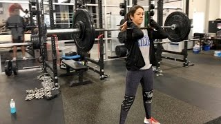 Bayley trains for her WrestleMania title defense at the WWE Performance Center