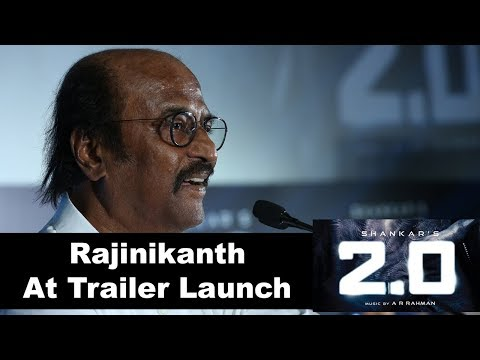 Rajinikanth Speech at 2.0 Movie Trailer Launch Event