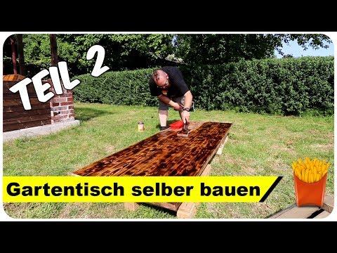 Gartentisch selber bauen für 30 EUR 🤑Teil 2/2
