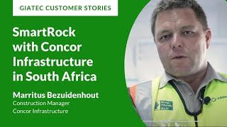 Giatec – SmartRock™ with Marritus Bezuidenhout, Construction Manager at Concor Infrastructure