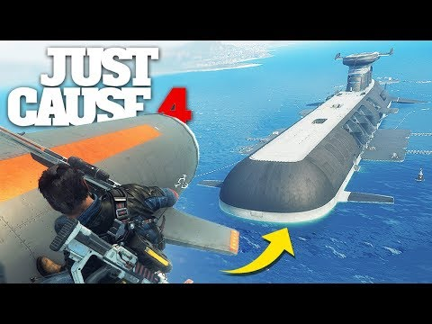 Just Cause 4 - NUKING A NUCLEAR SUBMARINE STUNT!