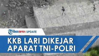 Detik-detik KKB Papua Lari Ketakutan Dikejar Aparat TNI-Polri, Sembunyi di Honai hingga Tebang Pohon