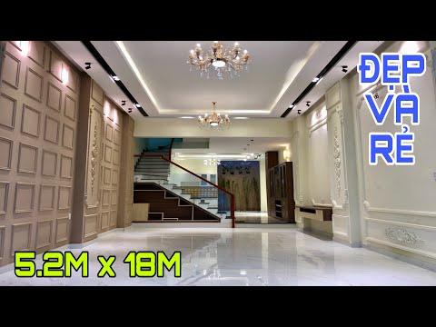 Bán nhà Gò Vấp( 56 )5.2m x 18m Biệt thự mini 3 lầu thiết kế cực chất   Nhà Đất Huy Hùng   6.xx tỷ