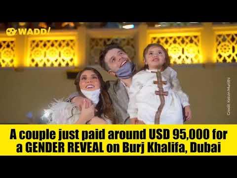 Couple spend crazy money for gender reveal at Dubai