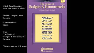 """Climb Ev'ry Mountain from """"The Sound of Music"""" (Soprano) by Richard Rodgers & Oscar Hammerstein II"""