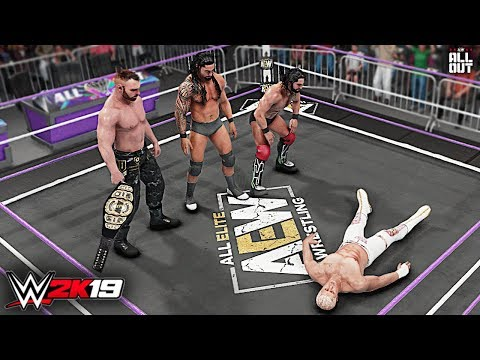 WWE 2K19 Custom Story - Jon Moxley Reunites The Shield at AEW All Out 2019 ft. Cody, Reigns, Rollins
