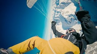 RedBull paragliding project above the Mont Blanc