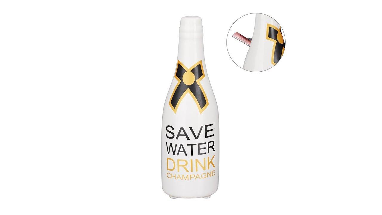 Video von: Spardose Sektflasche