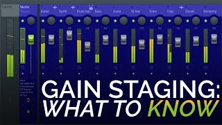 Gain Staging - The 3 Rules You Need To Know - In The Mix