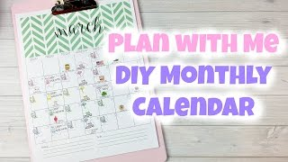 Sweet Kawaii Design - Plan With Me - DIY Monthly Calendar