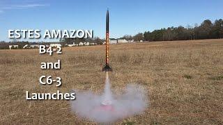 Estes Tandem X Amazon Rocket - 2 Launches w/ Different Engine Sizes