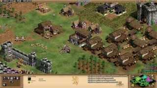 Aoe2 HD: 3v3 Black Forest (Spanish, Knight Rush) (8/13/13)