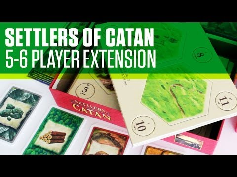 Settlers of Catan 5-6 Player Extension Unboxing and Review