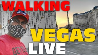 Las Vegas LIVESTREAM Strip Walk. Is It A Disaster Here?