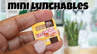 DIY MINIATURE LUNCHABLES