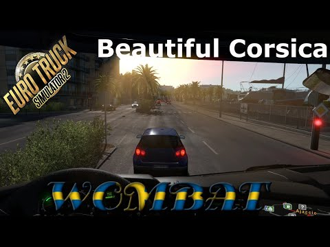 ETS2 1.36 - Hauling from Sicily, through Sardinia and around the island of Corsica