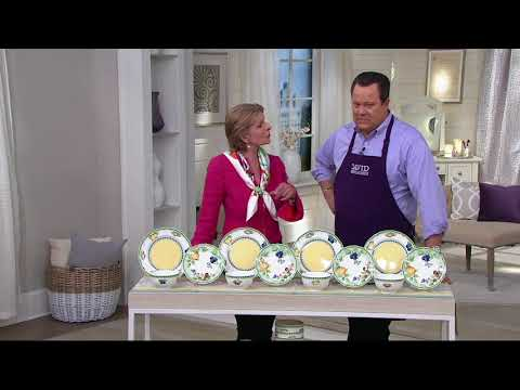 Villeroy & Boch French Garden 12-Piece Porcelain Dinnerware Set on QVC