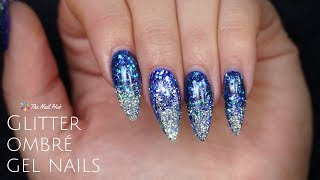 Glitter Ombre Gel Nail Design