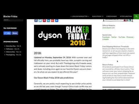 Dyson Black Friday 2018 Sale Predictions