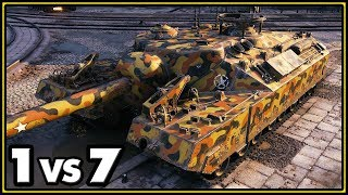 T95 - 11 Kills - 1 vs 7 - World of Tanks Gameplay