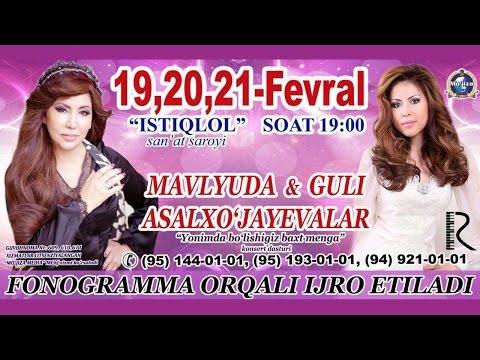 Download Mavlyuda va Guli Asalxo'jayeva - Yonimda bo'lishingiz baxt menga nomli konsert dasturi 2016 HD Mp4 3GP Video and MP3