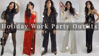 HOLIDAY WORK PARTY OUTFITS | CHRISTMAS LOOKBOOK 2019 | Reesewonge