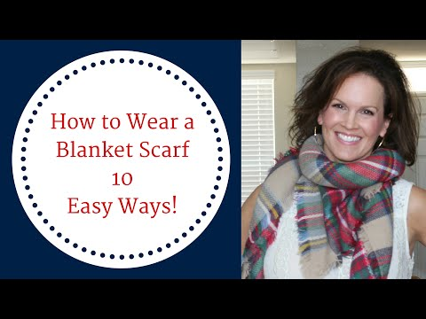 Download How To Wear a Blanket Scarf 10 Easy Ways! Mp4 HD Video and MP3