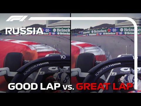 ピエールガスリーの走りをオンボード映像で比較した動画 F1 第15戦ロシアGP(ソチ)