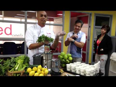 Video The Mean Green Juice Recipe by Chef Emman Galvez of Breville
