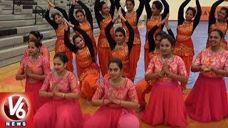 Telangana Association Organise Bathukamma Celebrations In North Carolina | V6 USA NRI News