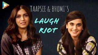 BLOCKBUSTER: Taapsee & Bhumi's HILARIOUS Rapid Fire on Akshay, clash with Housefull 4, women crush