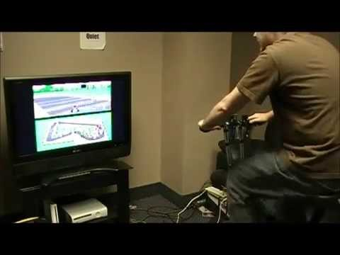 An Exercise Bike Is The Controller For This Mario Kart Mod