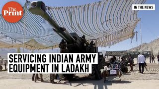 Bofors guns & other weaponry being serviced in Ladakh as Indian & Chinese soldiers faceoff  IMAGES, GIF, ANIMATED GIF, WALLPAPER, STICKER FOR WHATSAPP & FACEBOOK