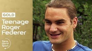 Teenage Roger Federer on Trans World Sport
