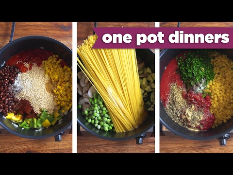 Video Healthy One-Pot Dinner Recipes! Pizza Pasta, Taco Quinoa, + BONUS Recipe! - Mind Over Munch