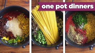 Healthy One-Pot Dinner Recipes! Pizza Pasta, Taco Quinoa, + BONUS Recipe! - Mind Over Munch