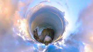 Смотреть онлайн Закат на пляже в 360 градусов VR