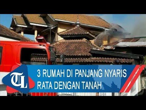 Diamuk Si Jago Merah, 3 Rumah di Panjang Nyaris Rata dengan Tanah