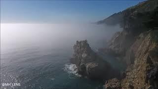 Monterey California, West coast by drone DJI Phantom 4 footage