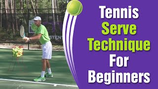 Tennis Serve Technique For Beginners   How To Serve Tips