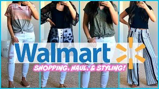 WALMART SHOP WITH ME & HAUL! AFFORDABLE CLOTHING FINDS & OUTFIT IDEAS!