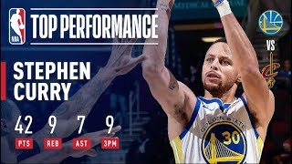 Steph Curry Goes Off For 42 Points (9-14 3PT FG) in Warriors' Road Win   December 5, 2018