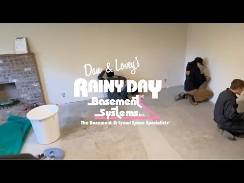 Basement Waterproofing Timelapse