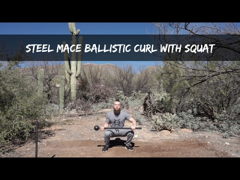Steel Mace Ballistic Curl With Squat