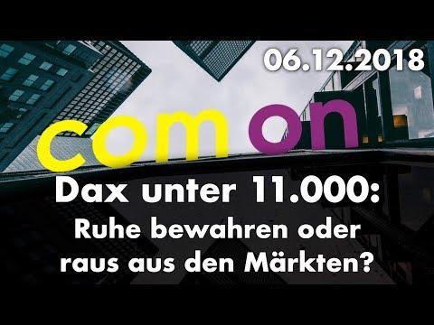 Dax unter 11.000 – Neue Jahrestiefs an Europas Marktplätzen - com´on der Börsenpodcast 06.12.2018
