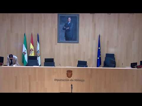 Pleno extraordinario y urgente de la Diputación de Málaga. 1 de octubre 2021