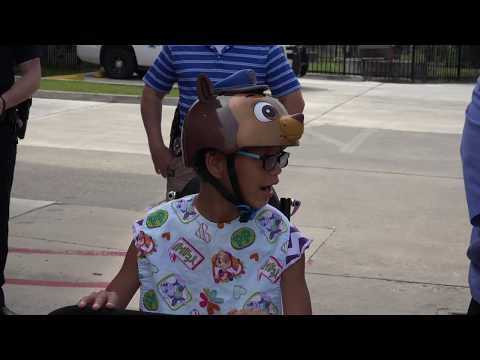 Watch disabled girl when Slidell police return her custom-made tricycle