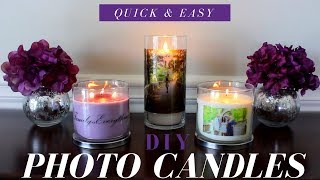 How To Make Photo Candles | DIY Room Decor | Wedding Or Party Favor Ideas